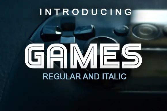 Games Display Font