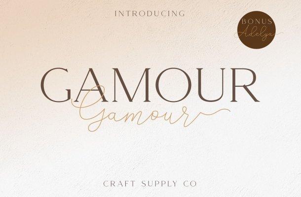 Gamour Elegant Serif Font