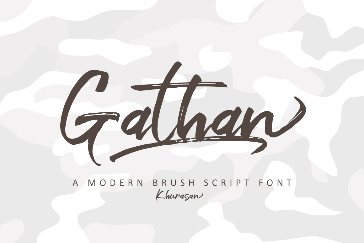 Gathan Brush Script Font-1