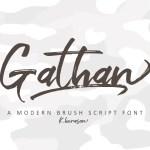 Gathan Brush Script Font