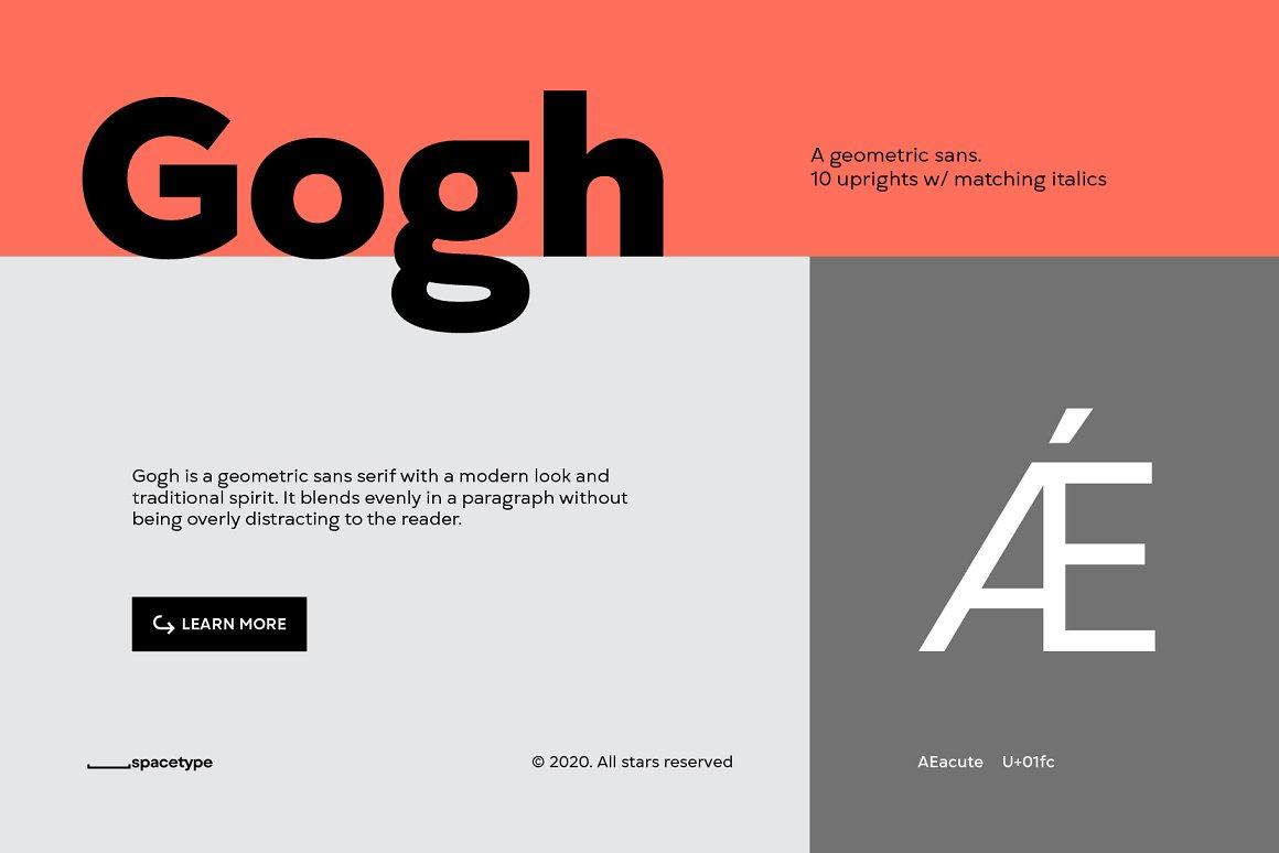 Gogh Geometric Sans Serif Typeface-2