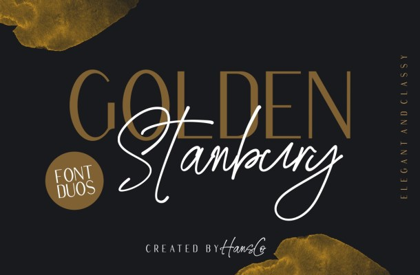 Golden Stanbury Font Duo