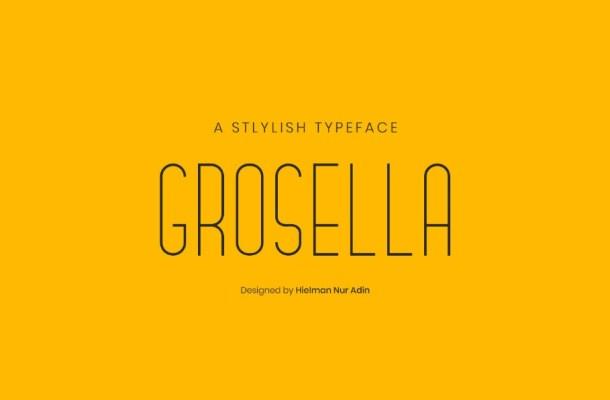 Grosella Sans Serif Typeface