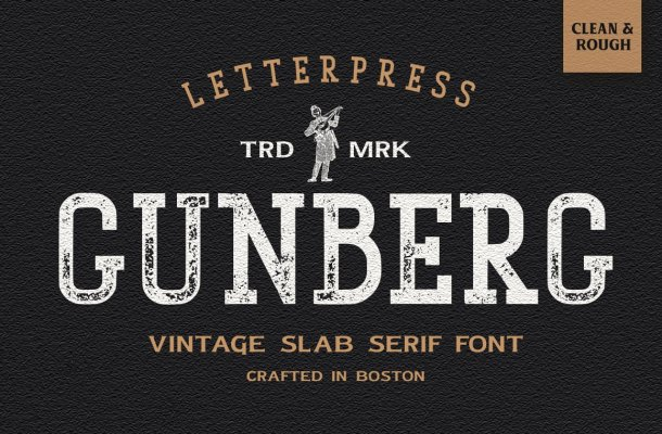 Gunberg Slab Serif Font