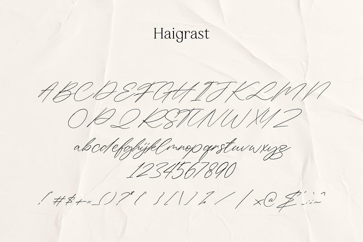 Haigrast Script Serif Font Duo-3