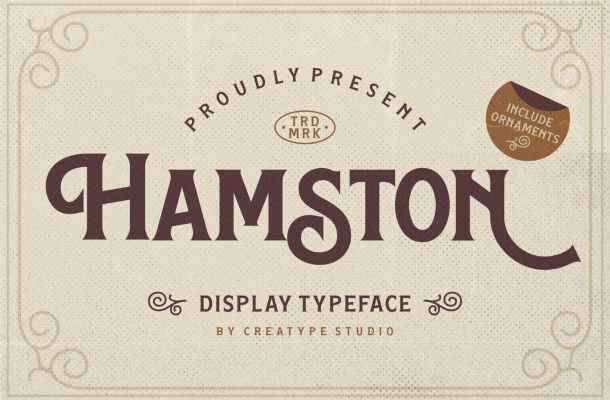 Hamston Display Typeface
