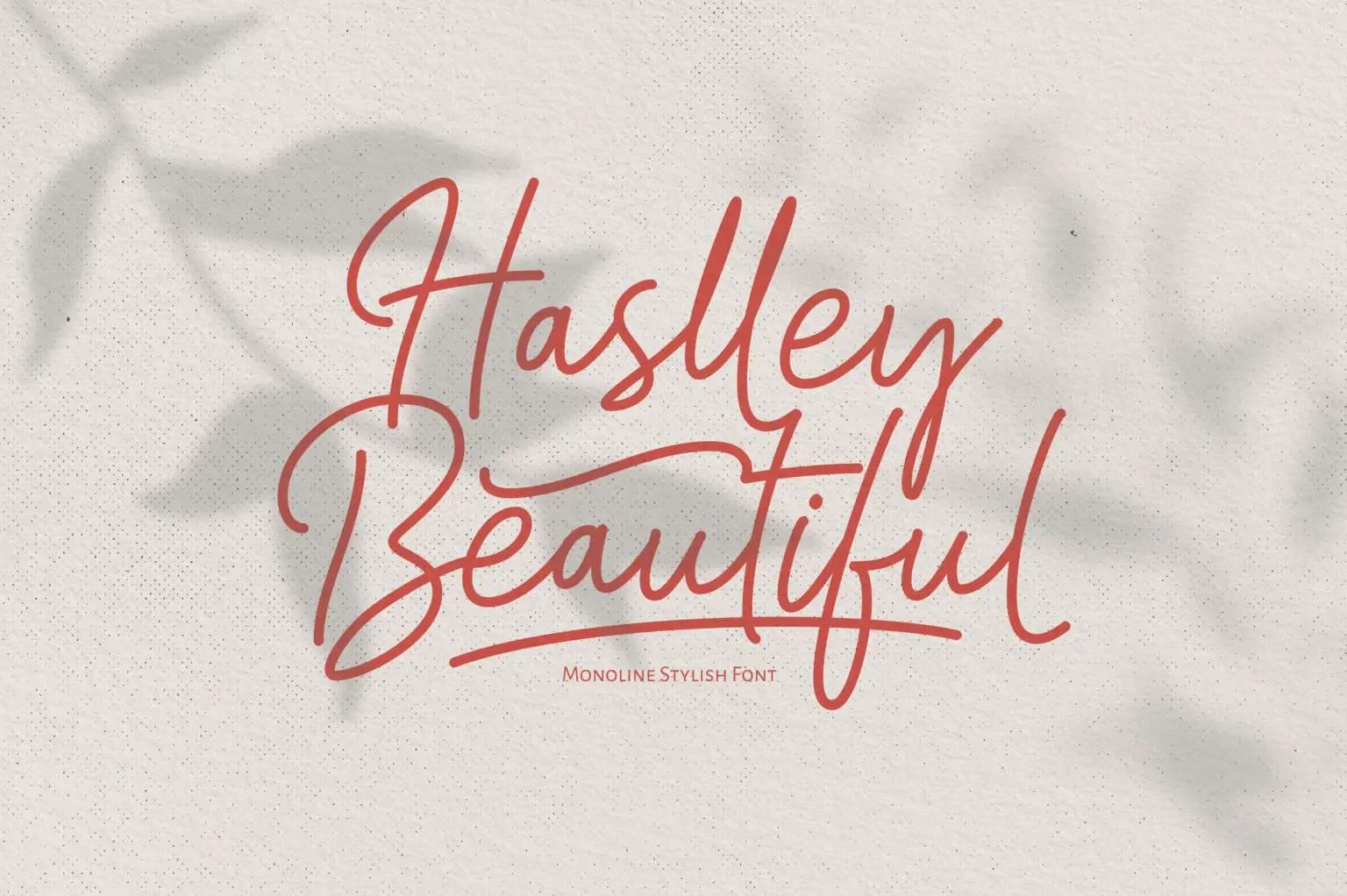 Haslley Beautiful Calligraphy Script Font-1