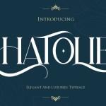 Hatolie Elegant And Luxuries Typeface