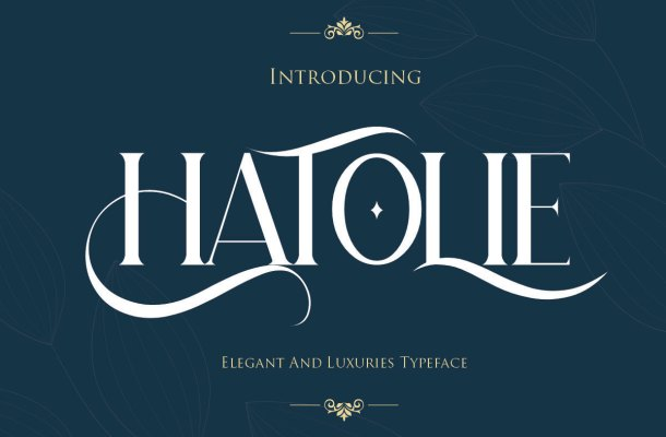 Hatolie Elegant And Luxuries Typeface