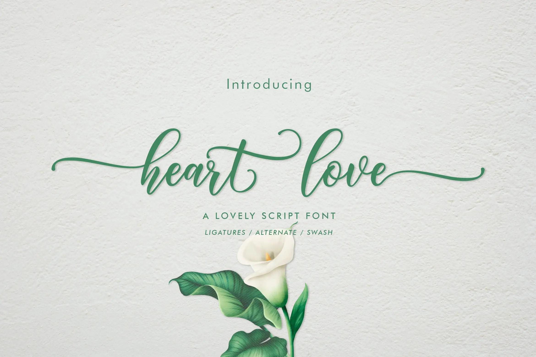 Heart Love Calligraphy Script Font-1