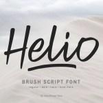 Helio Script Brush Font