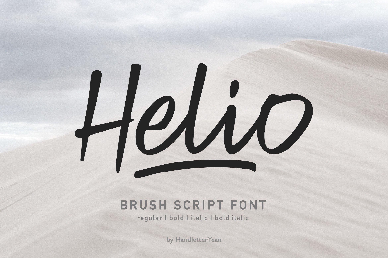 Helio Script Brush Font-1