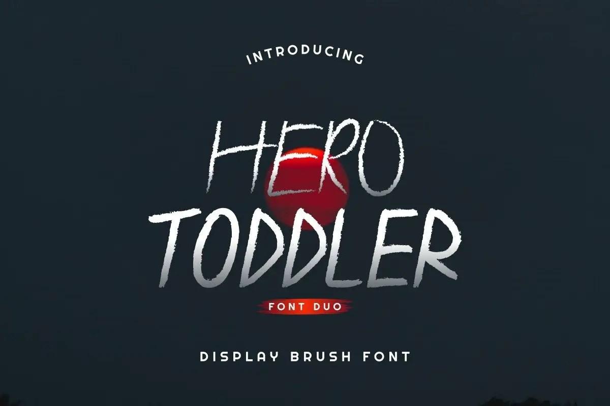 Hero Toddler Font Duo Family-1
