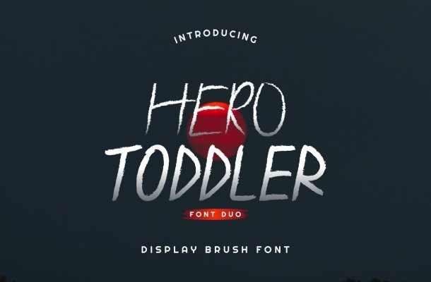 Hero Toddler Font Duo Family