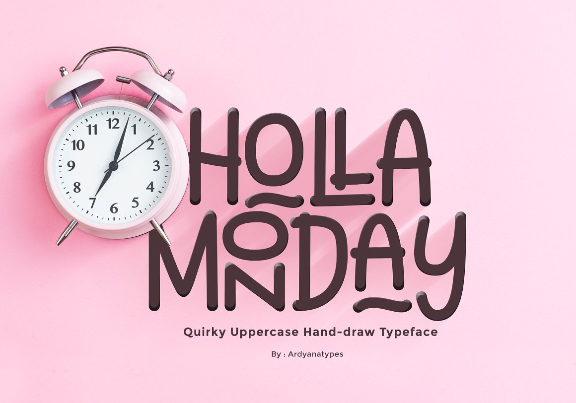 Holla Monday Display Font-1