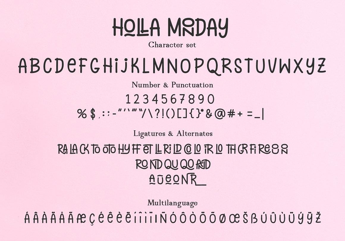 Holla Monday Display Font-3
