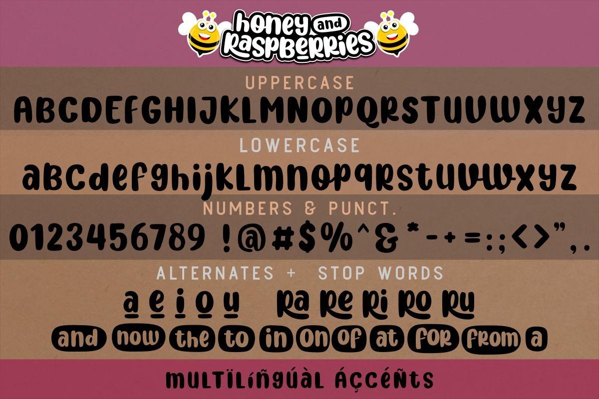 Honey and Raspberries Fancy Font-3