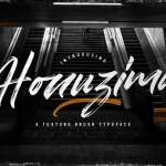 Honuzima Handbrush Script Font