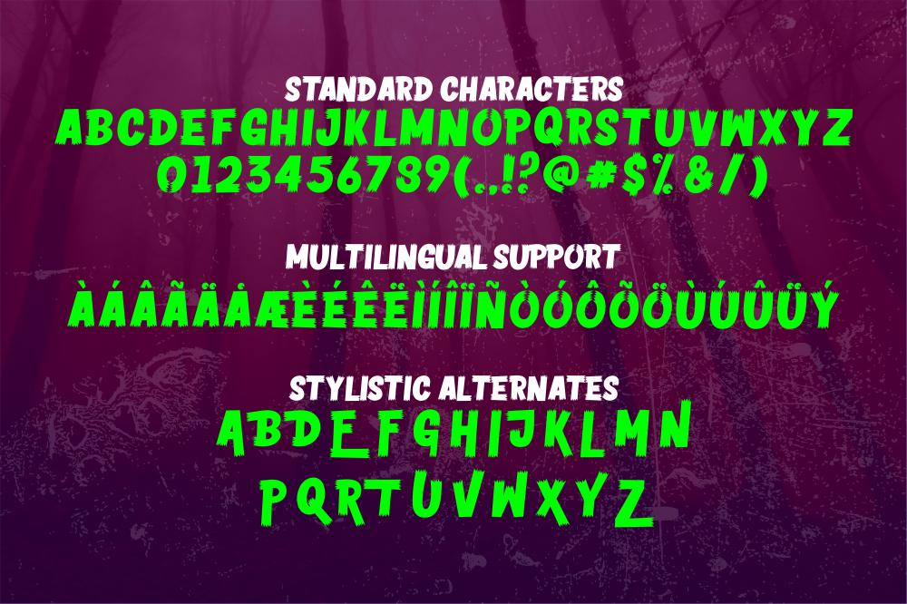 Horror Vision Display Font-3