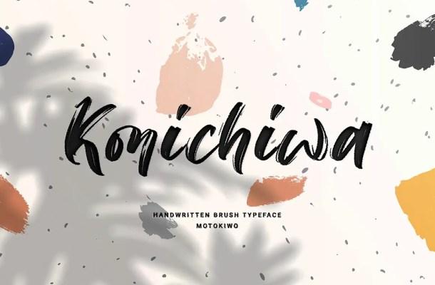 Konichiwa Brush Script Font