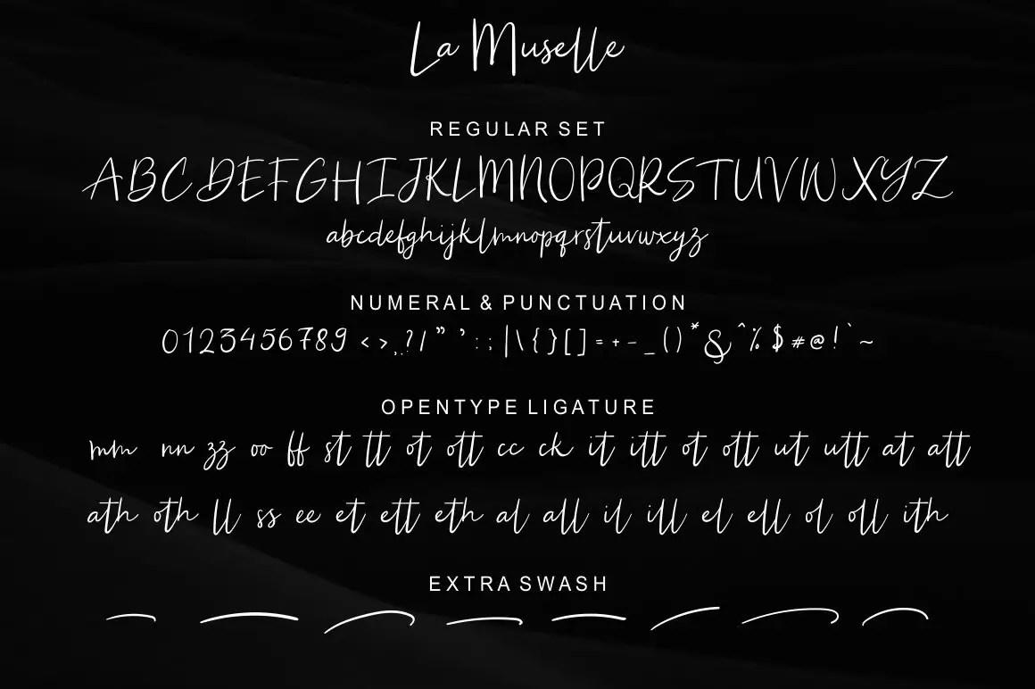 La Muselle Handwritten Script Font-3