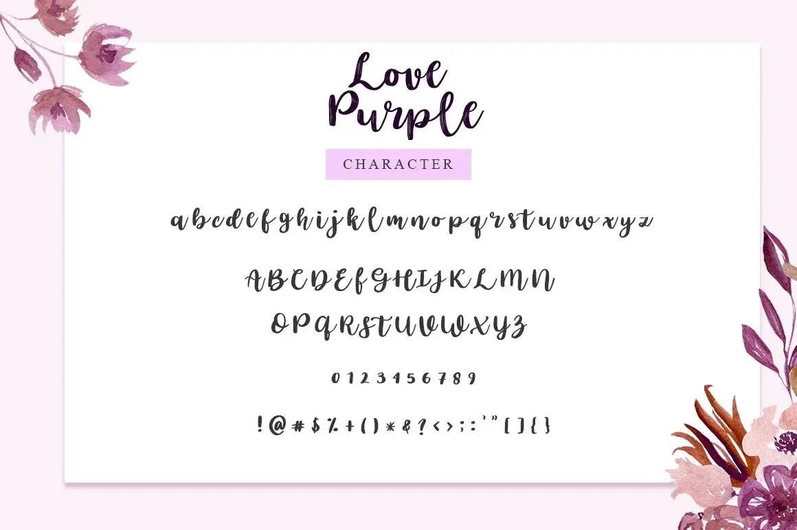 Love Purple Brush Script Font-3