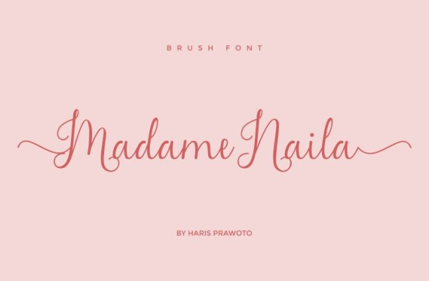 Madame Naila Lovely Modern Calligraphy Font