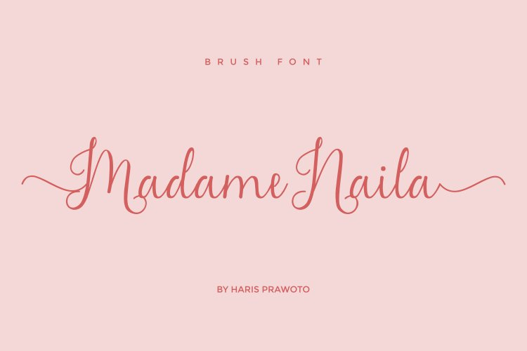 Madame Naila Lovely Modern Calligraphy Font-1