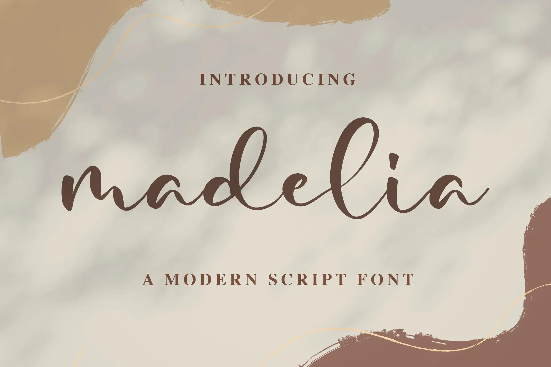 Madelia Modern Script Font-1