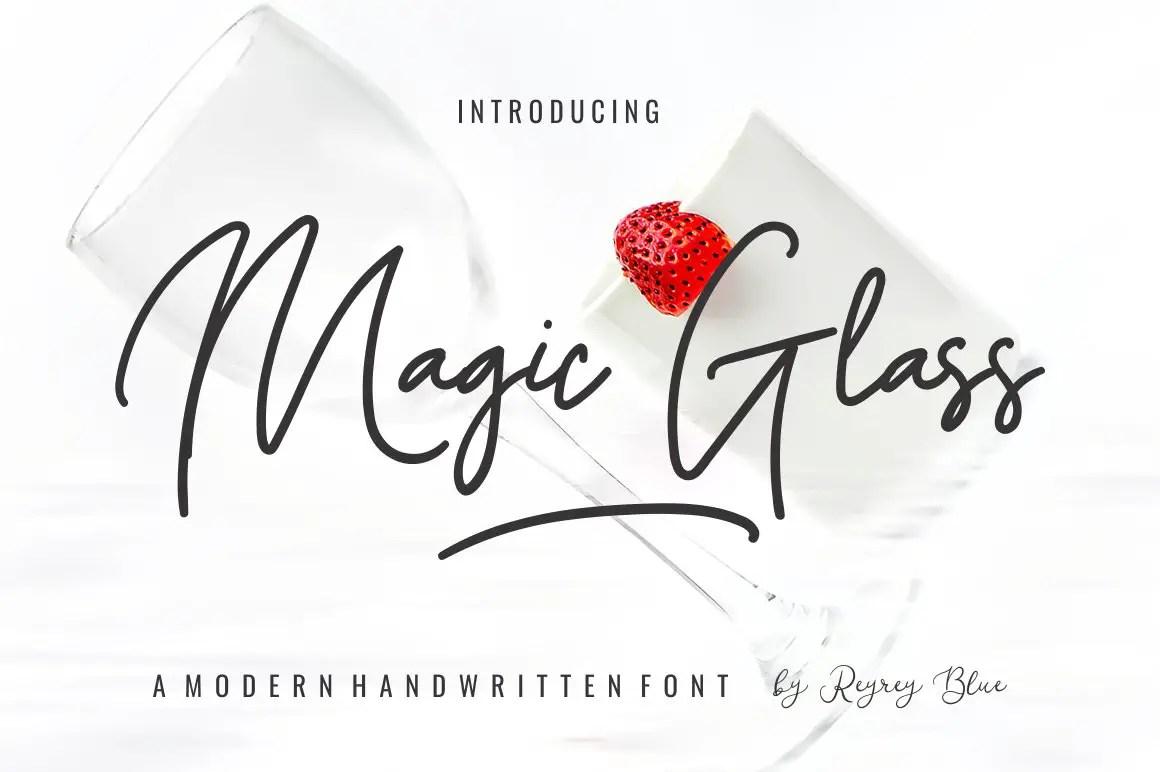 Magic Glass Handwritten Font-1