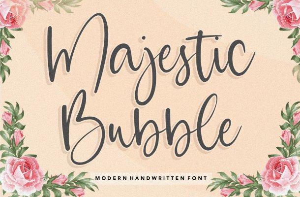 Majestic Bubble Font