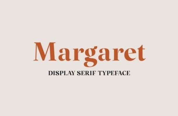 Margaret Display Serif Typeface