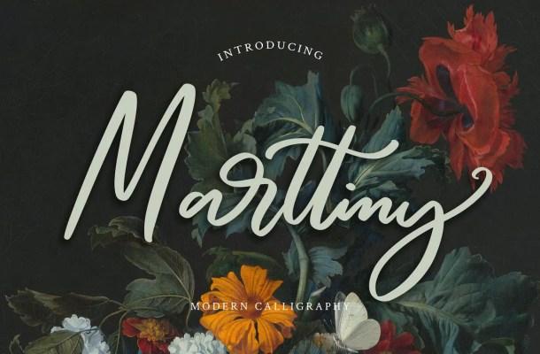 Marttiny Calligraphy Script Font