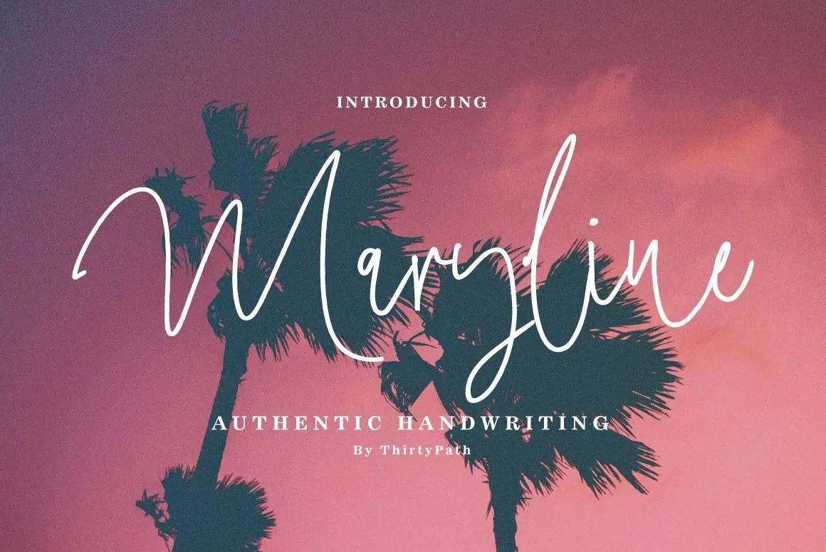 Maryline Handwritten Script Font-1
