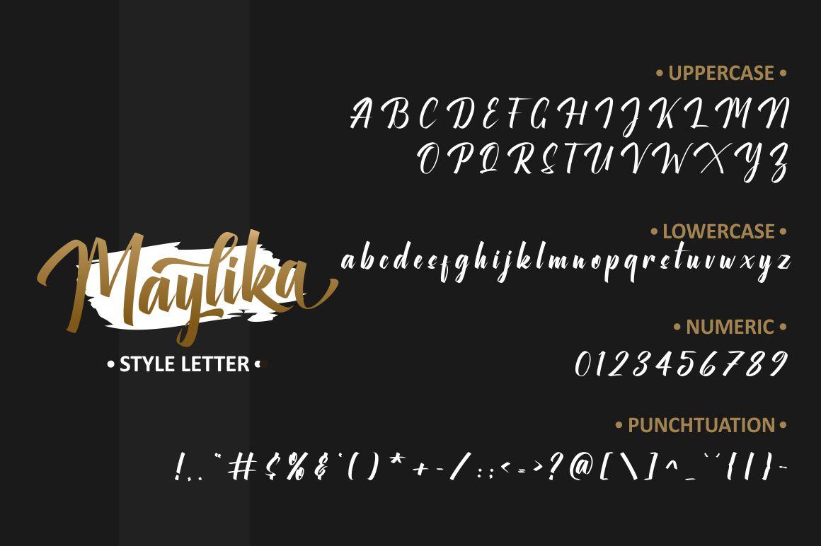 Maylika calligraphy script Font-3