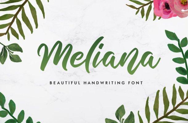 Meliana Script Brush Font