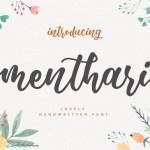 Menthari Lovely Handwritten Font
