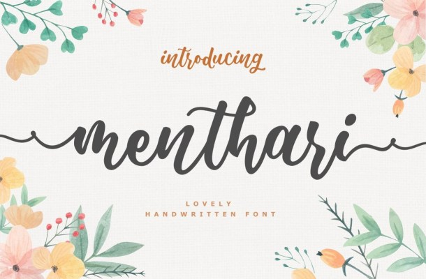 Menthari Lovely Handwritten Font