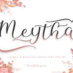 Meytha Calligraphy Script Font