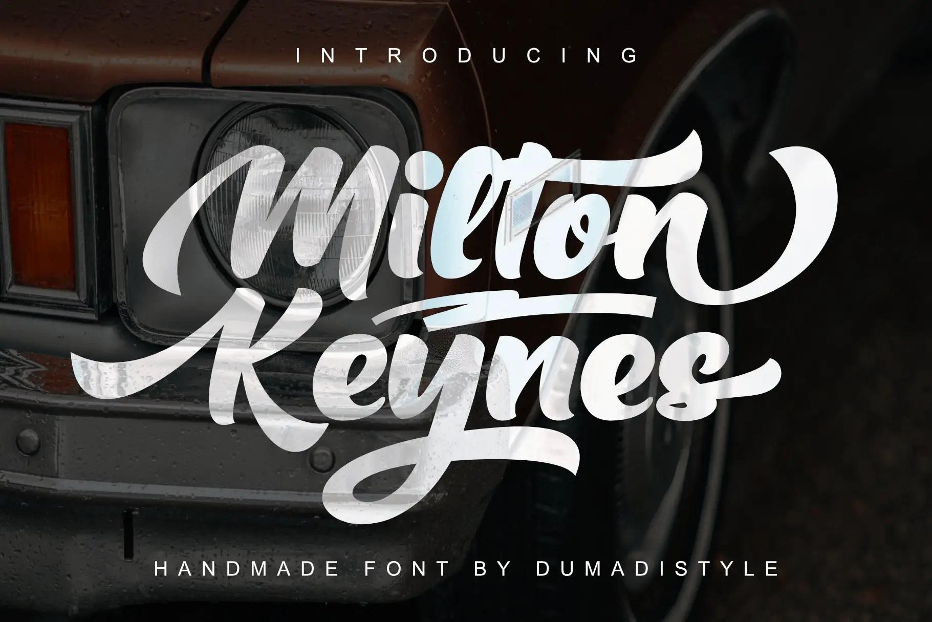 Milton Keynes Script Font-1