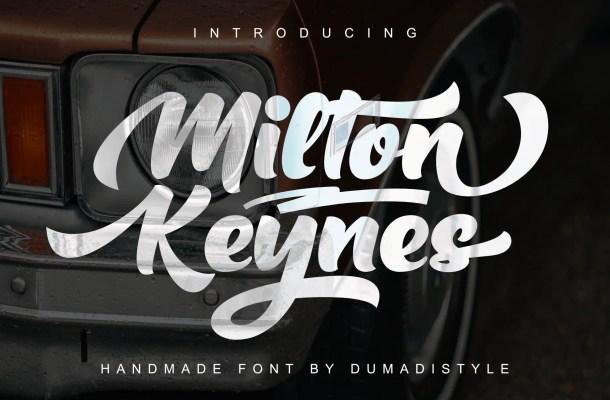 Milton Keynes Script Font