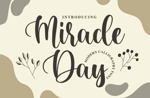 Miracle Day Modern Calligraphy Font