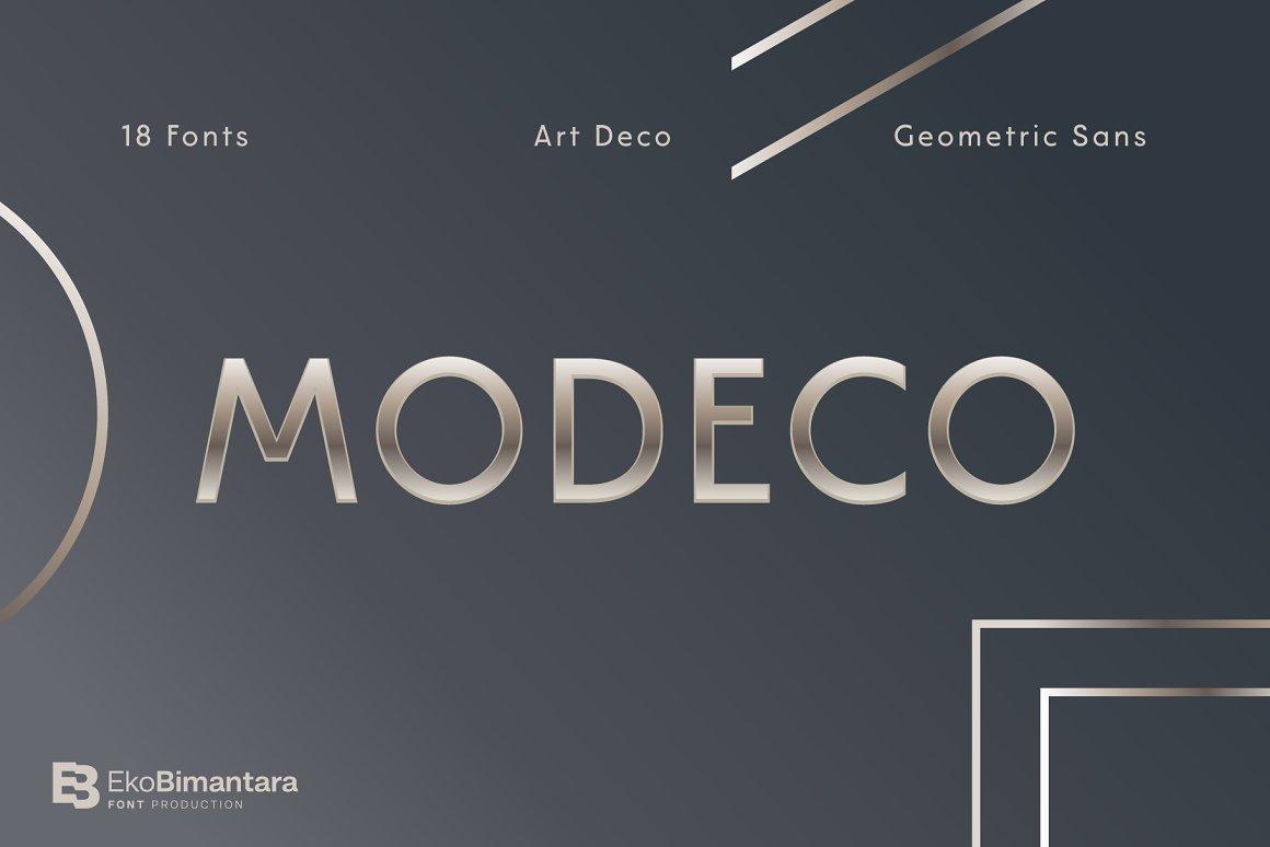 Modeco Art Deco Geometric Sans Font-1