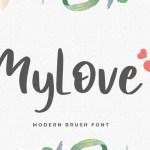 MyLove Display Font