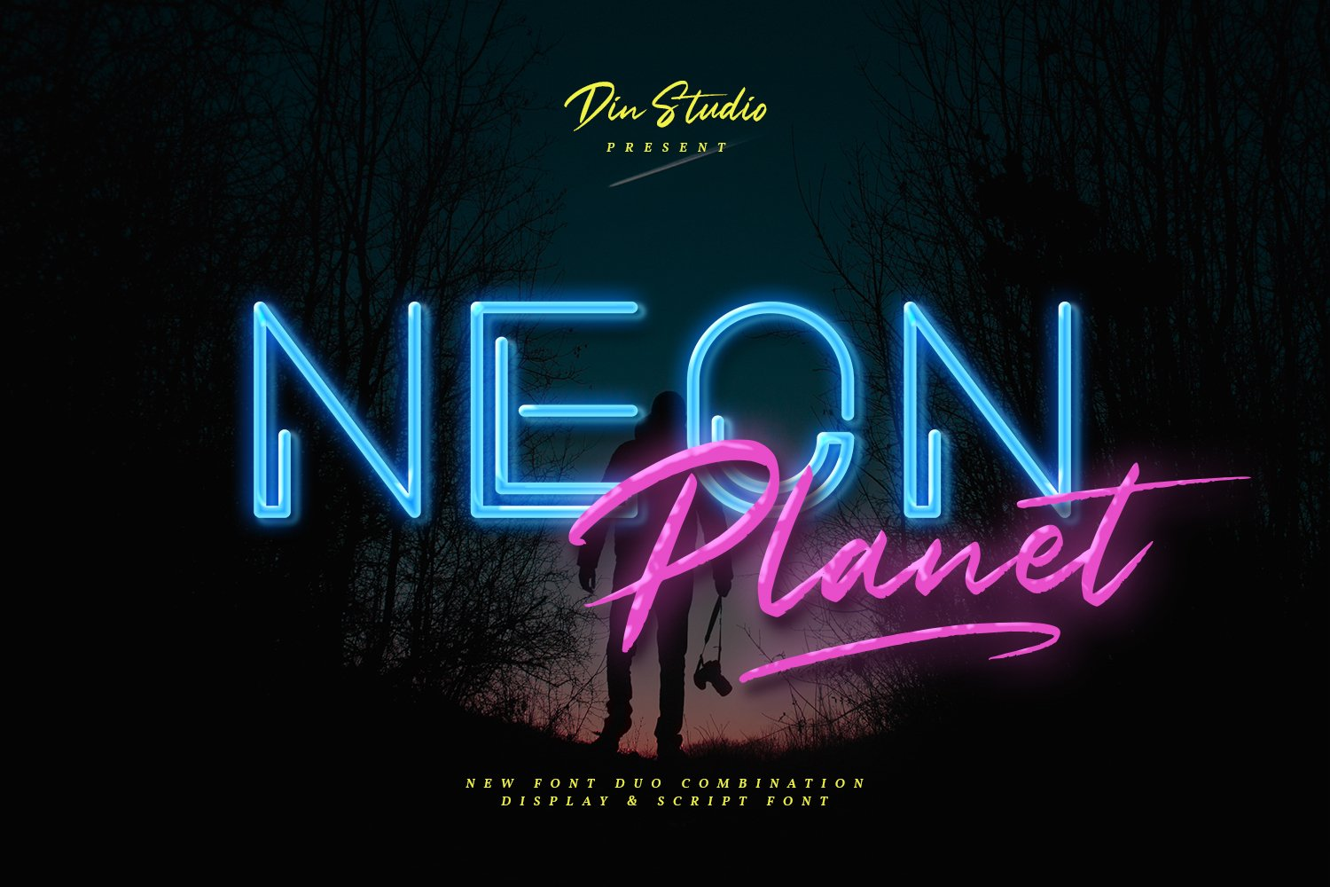 Neon Planet Display Personal Us Font-1