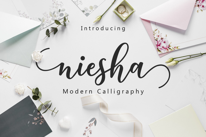 Niesha Modern Calligraphy Script Font-1