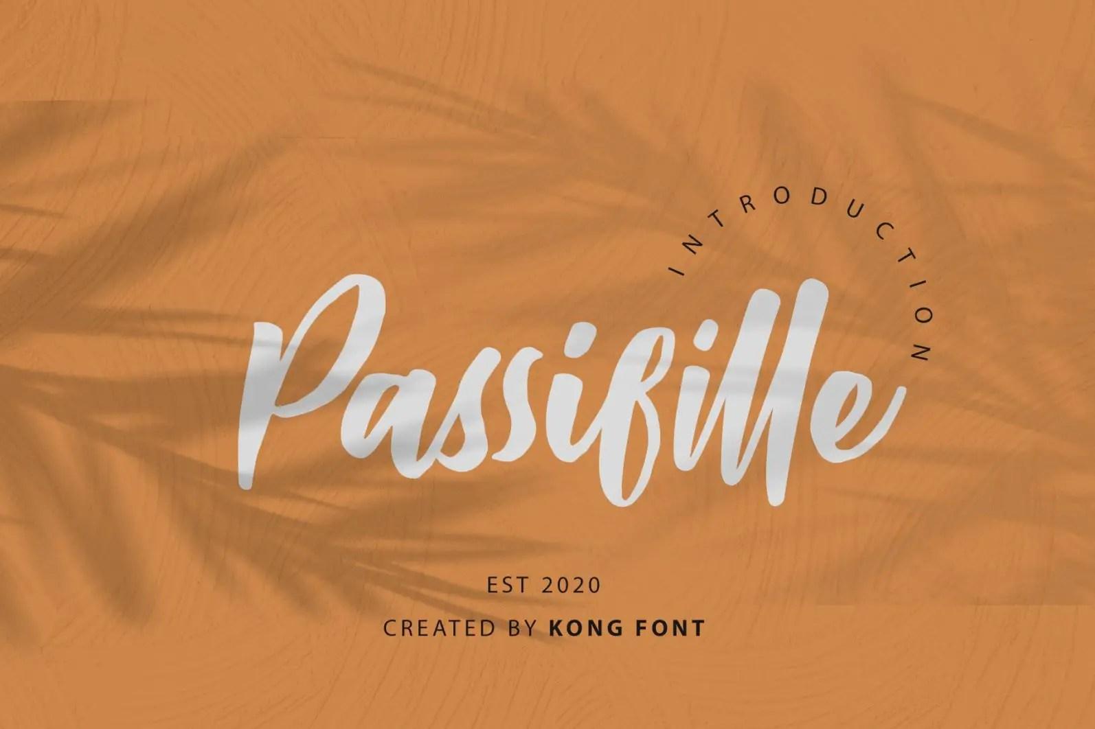 Passifille Handwritten Font-1