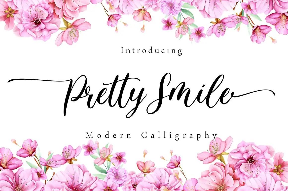 Pretty Smile Modern Calligraphy Script Font-1