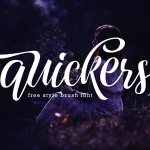 Quickers Calligraphy Script Font