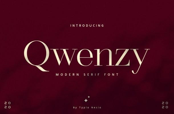Qwenzy Modern Serif Font